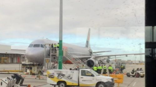 "Jetstar told 9NEWS this behaviour is ""unacceptable"" and placed an immediate ban on the passenger. (9NEWS)"