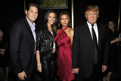David Wolkoff, Stephanie Winston Wolkoff, Melania Trump and Donald Trump attend a benefit on February 6, 2008 in New York City.