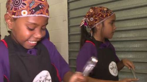 'Tucka-Time' kicked off at Vincent State School today. (9NEWS)