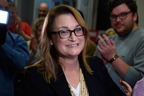 The Labor Party's Justine Keay will regain the Tasmanian seat of Braddon as early polling results put her ahead on a two-party preferred basis. Picture: AAP.