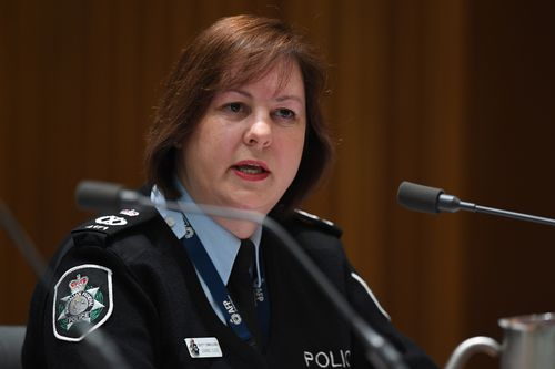 Deputy Commissioner Leanne Close came under intense questioning from Labor MP Anthony Byrne on AFP police powers.