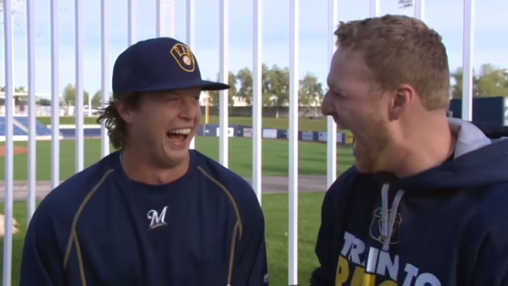 Baseballer's 'dying donkey' laugh a hit with fans
