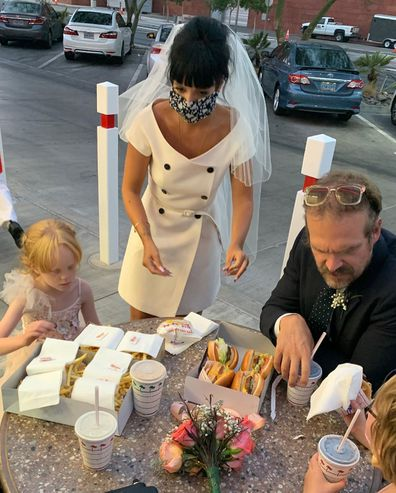 Lily Allen, David Harbour, wedding, ring