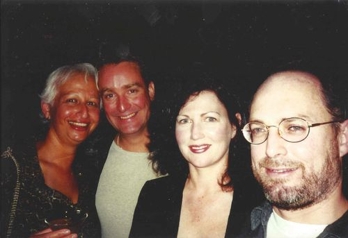 Several friends told 9News Lesley 'sparkled'. Here she is pictured with husband Joe O'Keefe(second from left), her brother Mark Thomas and his wife Linda. Photo with kind permission of Joseph O'Keefe