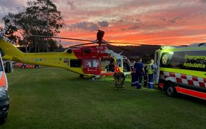 Boy rushed to hospital after being struck by bus travelling 50km/h as he rode his bike on NSW Central Coast
