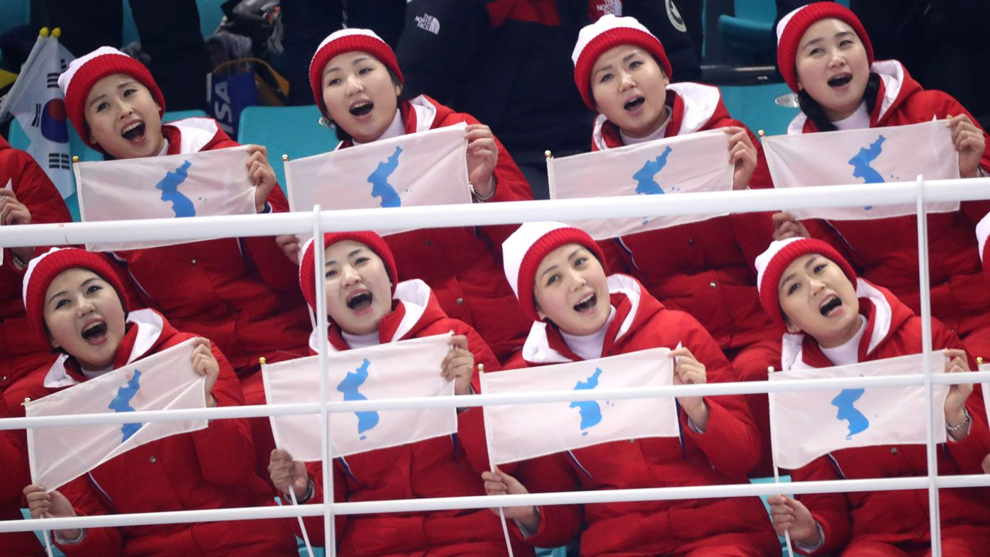 North Korea cheerleaders fascinate spectators at 2018 Winter Olympics