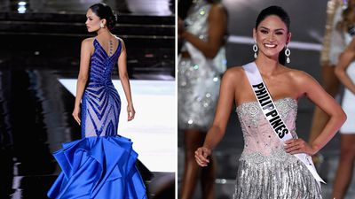 Miss Philippines Pia Alonzo Wurtzbach during the contest. (Getty)