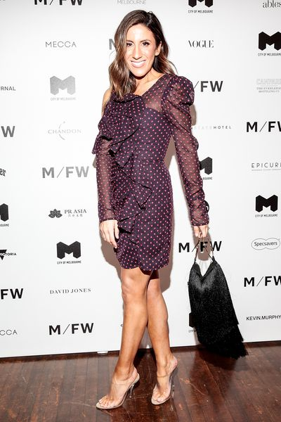 Stylist Lana Wilkinson at Melbourne Fashion Week September 2018