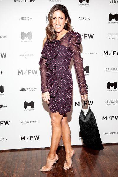 Stylist Lana Wilkinson at Melbourne Fashion Week September 2018