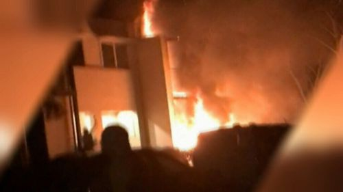 The fire then spreads and sets the house alight, causing significant damage. (Supplied)
