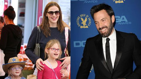 Jennifer Garner with kids Seraphina and Violet / Ben Affleck at the Director's Guild Awards. Image credit: Snapper/Getty