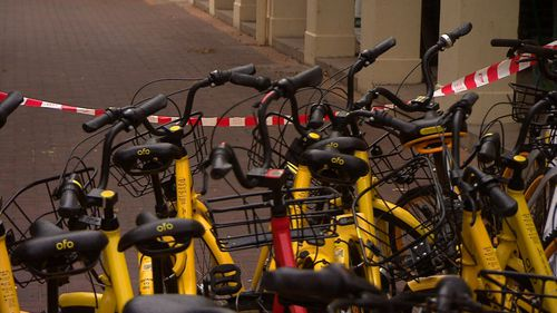 A study found that Australia has the lowest usage of share bikes in the world. Picture: 9NEWS