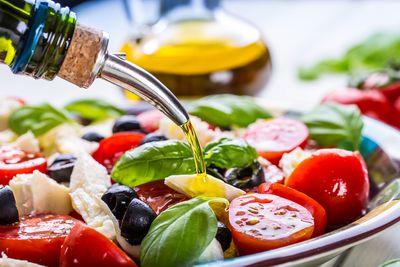 For olive oil or balsamic vinegar (884 calories/100g)