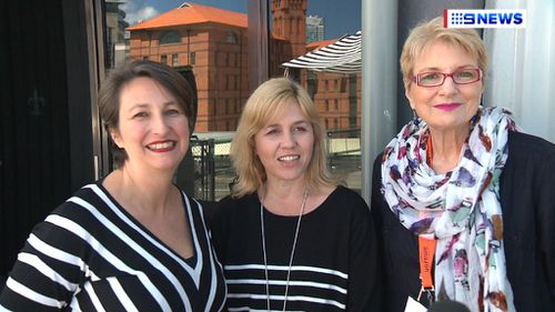 Regina Peterburgsky, Michelle Gay and Lindsay Lewis were hoping to hear when they could start selling locally through Amazon (9NEWS)