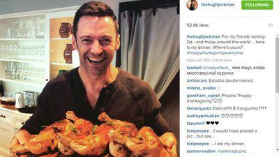 Hugh Jackman having an Aussie Thanksgiving!