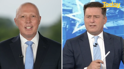The light-hearted sledging came fast and hard, with Mr Dutton firing back.