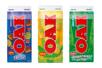 Oak new Allen's inspired flavours: Fantales, Pineapples, Peppermint Crisp