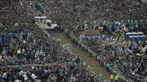 More than six million worshippers greeted the Pontiff. (AAP)