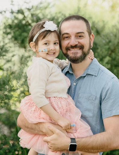 Samantha with her father Steven.
