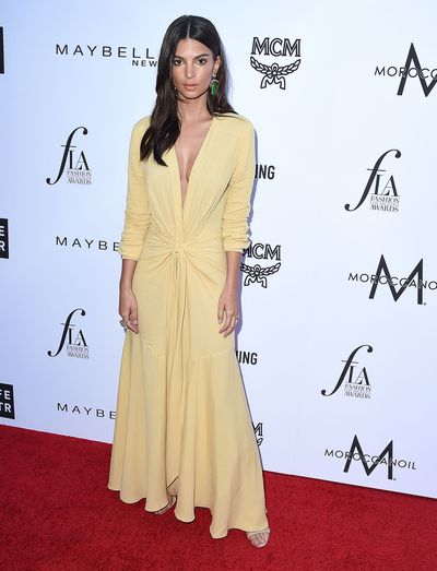 Model and actress Emily Ratajkowski in Jacquemus
