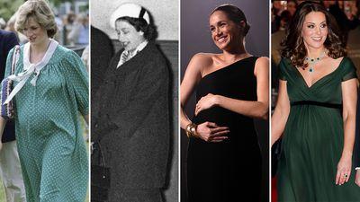 Royal pregnancies through the years