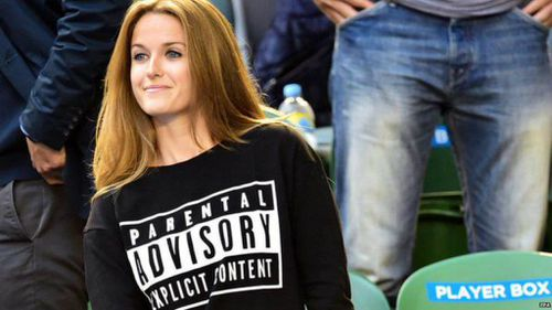 Andy Murray's fiance Kim Sears pokes fun at herself at his Australian Open finals appearance. (Supplied)
