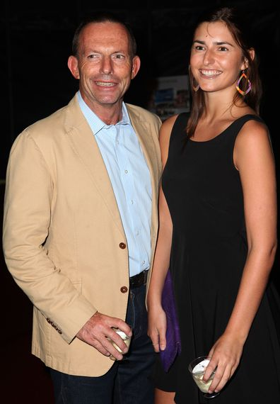 Tony Abbott and daughter Frances Abbott
