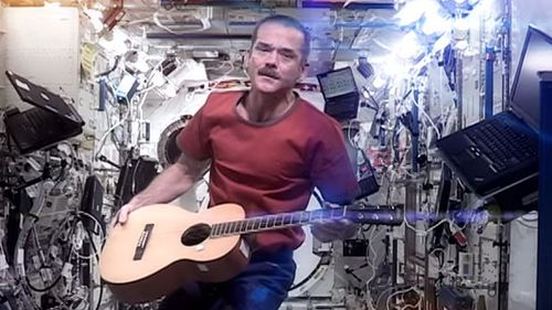 Astronaut muso still travelling around the Earth just not as quickly