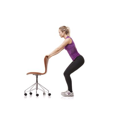 <strong>...an assisted squat with an object.</strong>