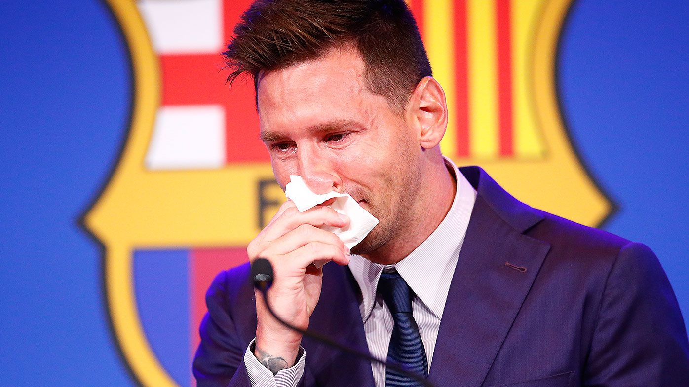 'I'm not ready for this': A heartbroken Lionel Messi leaves door open for fairytale Barcelona return