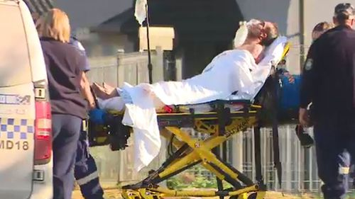 Two men were injured in a stabbing in Sydney's west.