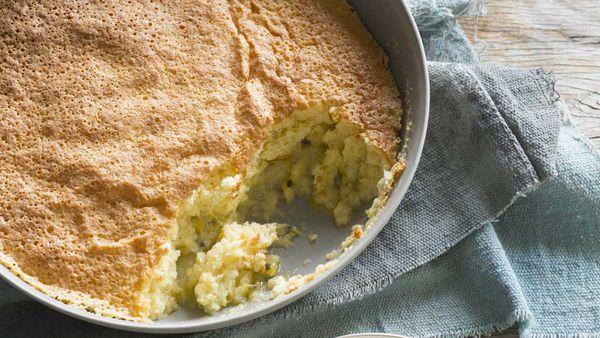 Lemon passionfruit pudding