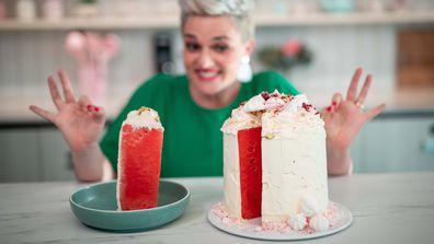 Jane de Graaff shows us how to make a stunning watermelon cake