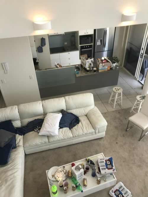 """A woman has claimed her apartment was """"wrecked"""" by an Airbnb renter."""