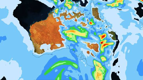 Rain and storms are set to hammer much of Australia during the week.