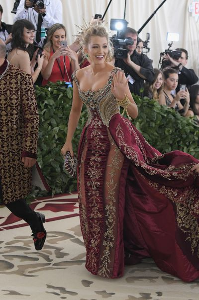 Actress Blake Lively in Versace