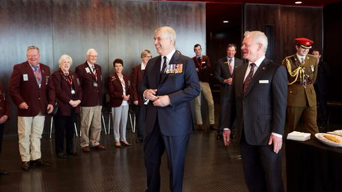 Prince Andrew toured the Shrine of Remembrance as part of her visit to Melbourne.