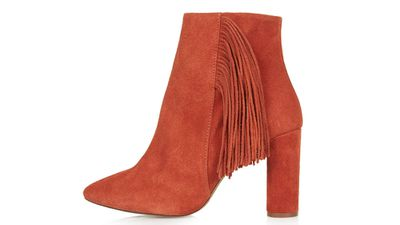 """<a href=""""http://www.topshop.com/en/tsuk/product/shoes-430/boots-460/heeled-boots-706/muskat-fringe-ankle-boots-4177882?bi=1&amp;ps=20""""> MUSKAT Fringe Ankle Boots, $150.84, Topshop</a>"""