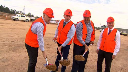Construction has commenced at the Bundamba site. Picture: 9NEWS