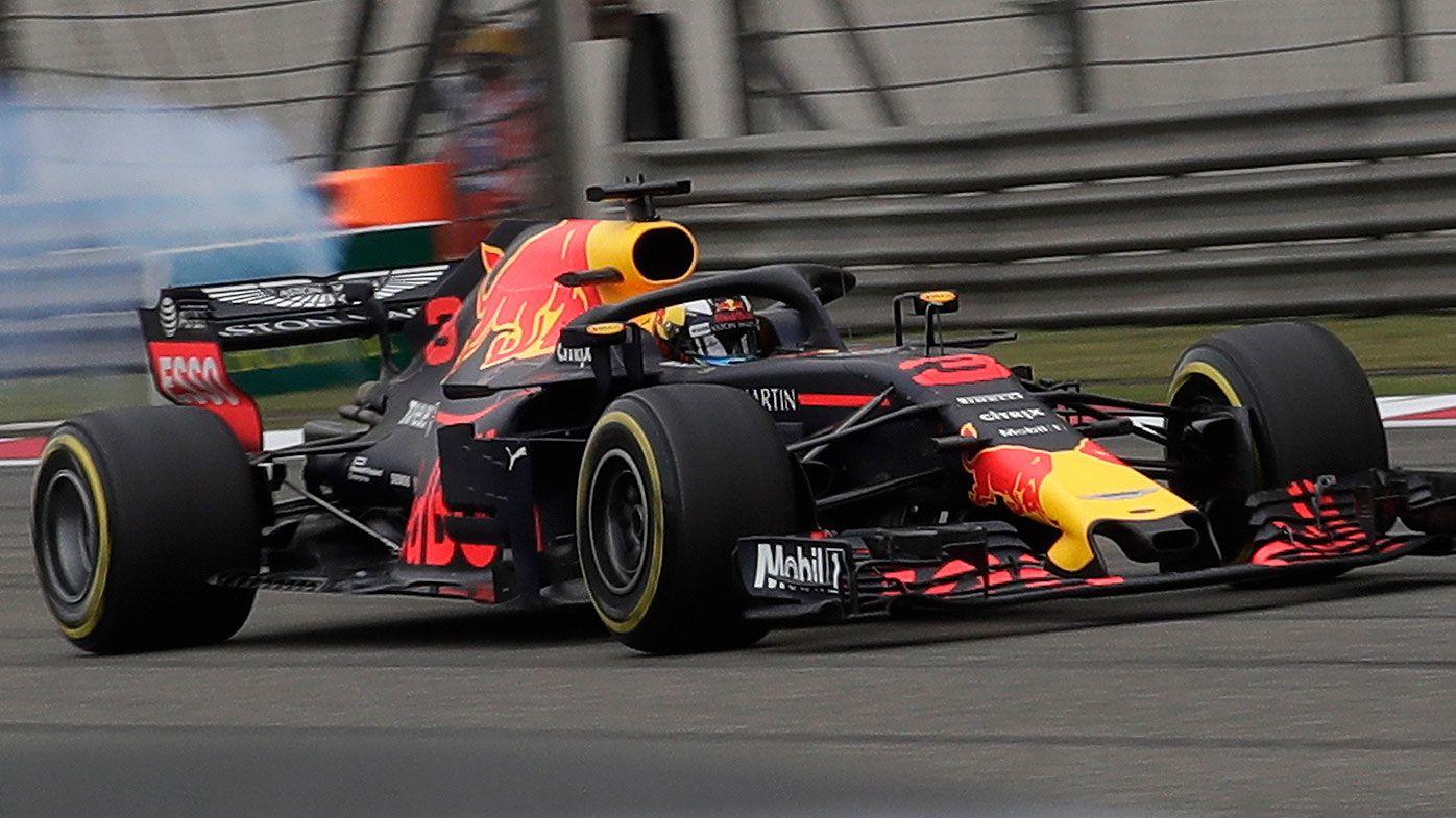 Daniel Ricciardo suffers a blown Renault engine