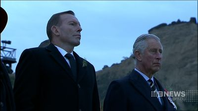 Mr Abbott with Prince Charles. (9NEWS)