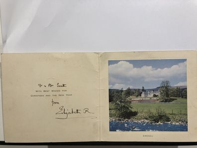 Card from the Queen Mother to Rosalind Carrodus