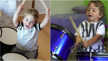 Two-year-old prodigy teaches himself to play drums like a pro