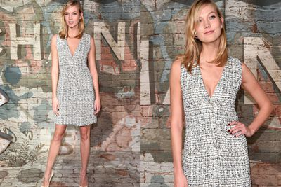 Is it just us, or is Karlie Kloss morphing into bestie Taylor Swift more and more each day?