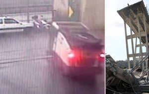 Genoa bridge collapse shown on CCTV