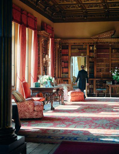 Downton Abbey's Highclere Castle interiors; drawing room