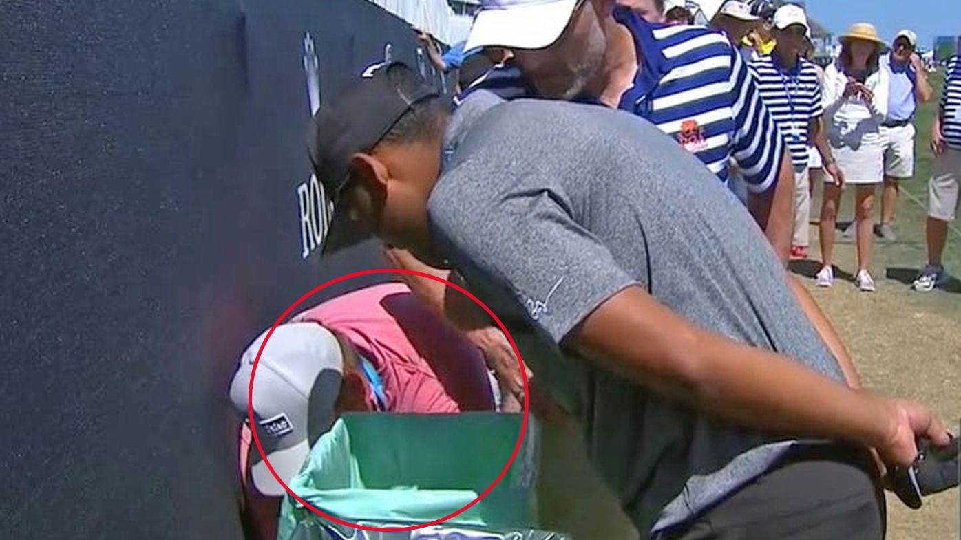 'Do I have to get it?': Sebastian Muñoz hits tee shot into garbage bin at US PGA Championship