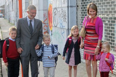 Belgian royals start school, September 2011