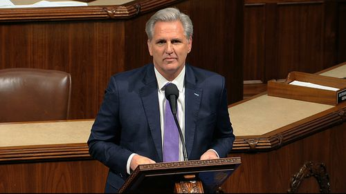 "House Minority Leader Kevin McCarthy decried what he called a ""rigged process""."