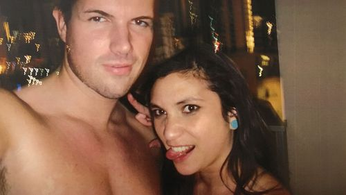 Selfies of Mr Tostee and Ms Wright taken on the night she died. (AAP)